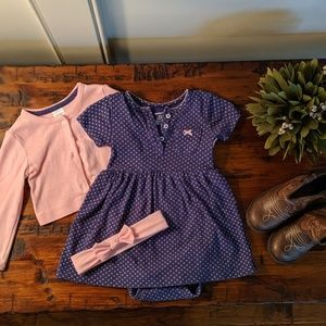 Carter's Infant dress with cardigan